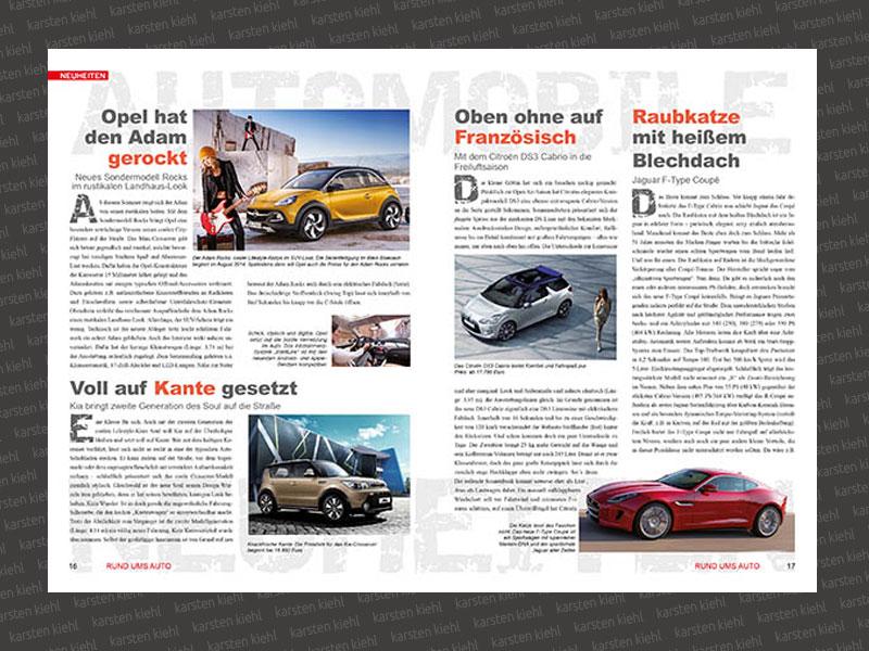 KFZ-Sonderseiten Magazin-Beilage