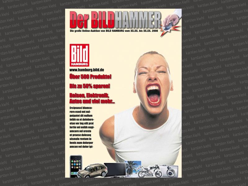 Titelseite Tageszeitungsbeilage, Layout