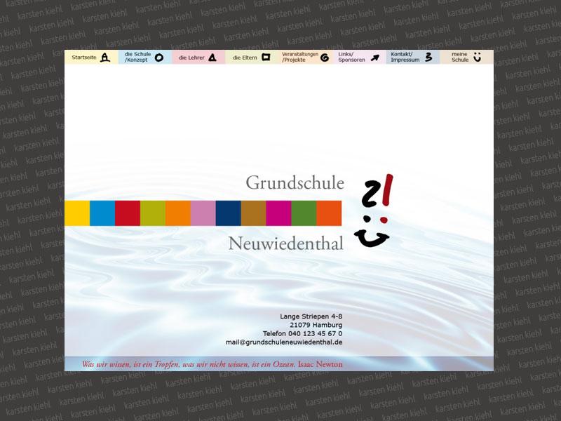 Logo- und Website-Entwurf für eine Grundschule