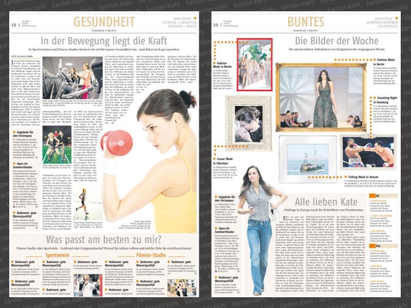 Seitenlayout Wochenblatt